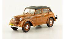Легендарные Советские Автомобили №72 - Москвич-400-420А (с тентом), масштабная модель, Hachette, scale24