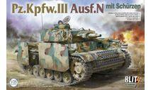 8005 Танк Pz.Kpfw.III Ausf.N TAKOM 1:35, сборные модели бронетехники, танков, бтт, scale35