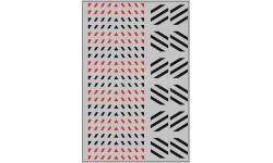Набор декалей 0078 Габариты на прозрачной подложке, черный / красный (100х140)