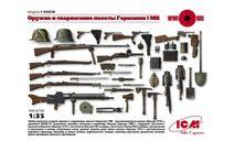 35678 Вооружение и снаряжение Германской пехоты І МВ ICM 1:35, сборные модели артиллерии, scale35
