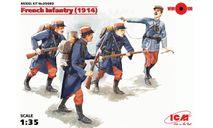 35682 Пехота Франции (1914 г.), (4 фигуры) ICM 1:35, миниатюры, фигуры, scale35