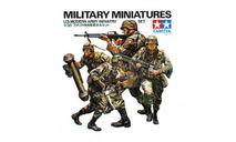 35133 TAMIYA Американские современные пехотинцы с М16А1, М203, М47 и М60 в атаке (4 фигуры) (1:35), миниатюры, фигуры, scale35