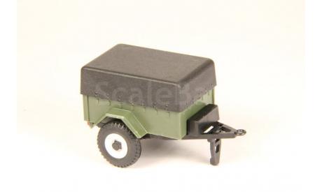 159971 Прицеп-8109 с тентом (УАЗ) зеленый 1:43, масштабная модель, scale43