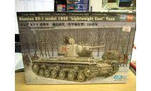84814 Российский танк КВ-1 (1942г) 1/48 HobbyBoss, сборные модели бронетехники, танков, бтт, Hobby Boss, 1:48