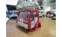 Кабина КамАз 53213 пожарная в сборе (элекон), запчасти для масштабных моделей, scale43
