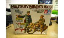 35241 нем. мотоциклист и регулировщик 1 /35 TAMIYA, миниатюры, фигуры, scale35