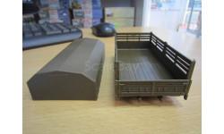 Камаз-4310 кузов + тент Хаки (элекон), запчасти для масштабных моделей, 1:43, 1/43