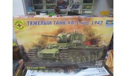 Сборная модель: тяжелый танк КВ-1 1:35 (моделист), сборные модели бронетехники, танков, бтт