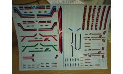 Набор декалей 0006 СуперМАЗ (полосы, надписи, логотипы)(200х140), фототравление, декали, краски, материалы, scale43