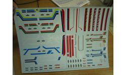 Набор декалей 0007 СуперМАЗ (полосы, надписи, логотипы) (200х140), фототравление, декали, краски, материалы, scale43