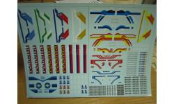 Набор декалей 0008 КАМАЗ (полосы, надписи, логотипы) (200х140), фототравление, декали, краски, материалы, scale43