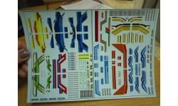 Набор декалей 0009 КАМАЗ (полосы, надписи, логотипы) (200х140), фототравление, декали, краски, материалы, 1:43, 1/43