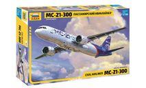 7033 Пассажирский авиалайнер МС-21-300 1/144 ЗВЕЗДА, сборные модели авиации, 1:144