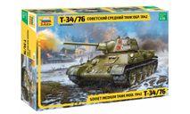 3686 Советский средний танк Т-34/76 обр. 1942 г. 1:35 Звезда, сборные модели бронетехники, танков, бтт, scale35