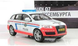 Audi Q7 Полиция Люксембурга ПММ № 28, журнальная серия Полицейские машины мира (DeAgostini), Полицейские машины мира, Deagostini, scale43