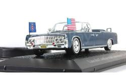 Lincoln Continental Limousine SS-100-X  J.F. Kennedy, масштабная модель, 1:43, 1/43, Atlas