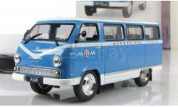 РАФ-977ДМ «Латвия» Маршрутное такси АНС № 28, журнальная серия Автомобиль на службе (DeAgostini), Автомобиль на службе, журнал от Deagostini, scale43