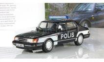 Saab 900 turbo Полиция Финляндии ПММ № 72, журнальная серия Полицейские машины мира (DeAgostini), Полицейские машины мира, Deagostini, 1:43, 1/43