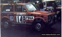 Декаль НИВА 148 Philips  дакар 1979 1:43, фототравление, декали, краски, материалы, scale43, КамАЗ