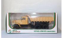 КрАЗ-256 Б1 самосвал бежевый, масштабная модель, Автоистория (АИСТ), 1:43, 1/43