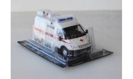 Автомобиль на Службе №11 - ГАЗ-32214 Газель Скорая медицинская помощь 1:43, масштабная модель, Deagostini, scale43