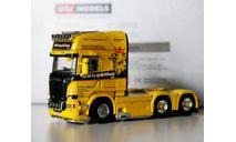 1/50 тягач Scania 6х4 грузовик WSI №68 из 150 шт, масштабная модель, scale50