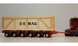 1/50 прицеп трал контейнер Demag 48 колес