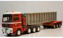 1/50 комплект тягач MAN 8х4 трал полуприцеп ферма, масштабная модель, Conrad, scale50