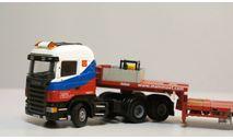 1/50 тягач Scania полуприцеп трал Mammoet редкий, масштабная модель, 1:50