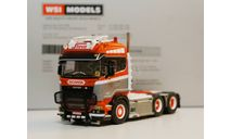 /50 тягач Scania R 6х2 грузовик 1:50, масштабная модель, WSI, 1/50