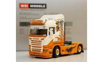 1/50 тягач Scania R 4х2 грузовик 1:50, масштабная модель, WSI