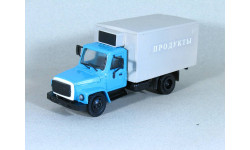 1/43 Горький-3307 'ПРОДУКТЫ' синий/серый, масштабная модель, 1:43, Компаньон