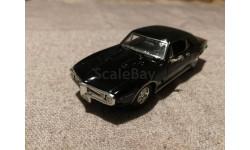 Pontiac Firebird 1967г. black (ERTL), масштабная модель, scale43