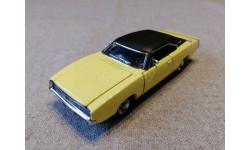 Dodge Charger R/T 1968 yellow (Franklin mint), масштабная модель, 1:43, 1/43