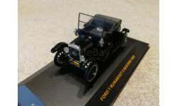 Ford T Runabout 2 seaters 1925г. black (IXO) 1/43