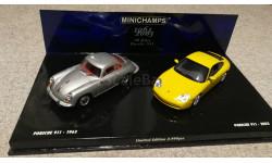 Porsche 356C 1964-65 + Porsche 911 2002 (Minichamps), масштабная модель, scale43