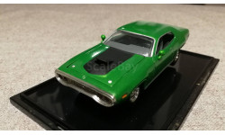Plymouth GTX 1971г. green (Hot Wheels), масштабная модель, scale43
