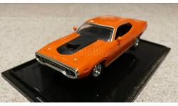 Plymouth GTX 1971г. orange (Hot Wheels), масштабная модель, scale43