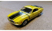 Ford Mustang Boss 302 1969г. (Road Champs), масштабная модель, 1:43, 1/43