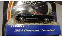 Chevrolet Corvette C1 1954г. black (Matchbox-Barrett Jackson), масштабная модель, scale43