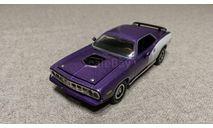 Plymouth Cuda Hemi 1971г. purple (ERTL), масштабная модель, scale43