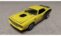 Plymouth Cuda Hemi 1971г. yellow (ERTL), масштабная модель, scale43