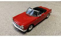 Peugeot 404 Cabriolet 1962 red (Minichamps) 1/43, масштабная модель, scale43