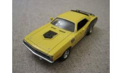 Plymouth Cuda 440 1971г. металл. дно(Matchbox)