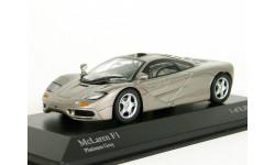 McLaren F1 GTR, grey met., 1996 - Minichamps - 1:43