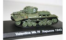 1/72 Валентайн МК-4 Харьков 1942 - Танки Мира №31, масштабные модели бронетехники, арсенал коллекция, 1:72