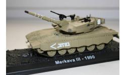 1/72 Merkava 3 Израиль 1990 - Танки Мира №6, масштабные модели бронетехники, арсенал коллекция, 1:43, 1/43