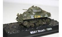 1/72 М5А1 Stuart 1944- Танки Мира №27, масштабные модели бронетехники, арсенал коллекция, 1:72