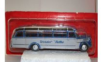 1/43 BORGWARD BO 4000 Germany - blue/silver - серия «Autobus et autocars du Monde» № 49 Hachette, масштабная модель, scale43