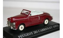 1/43 Peugeot 203 Cabriolet (1953) - Altaya, масштабная модель, scale43